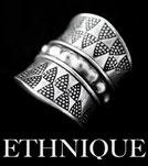 Bagues en argent ethniques