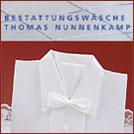Bestattungswäsche Thomas Nunnenkamp, Deckengarnituren zur Einsargung, Bestattungsmesse lexikon-bestattungen