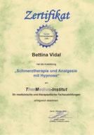 Zertifikat Schmerztherapie und Analgesie mit Hypnose