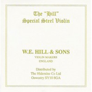 Cordes Hill & Sons violon