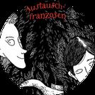 """Aussschnitt aus dem Cover von Kirsten Reinhardts Kinderbuch """"Die haarige Geschichte von Olga, Henrike und dem Austauschfranzosen""""."""