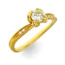 Solitär Ring in Gelbgold mit Brillanten aus der Verlobungsring Kollektion Mermaid der Goldschmiede OBSESSION Zürich und Wetzikon