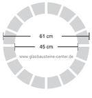 ALLBEND Wave Glasbausteine-center Duschwand Rund Duschwände Showerwalls Glasbausteine rund glass blocks round briques de verre