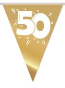 """Vlaggenlijn goud """"50"""" 10m € 2,50"""
