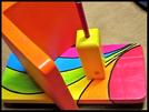 Pindakaas pot houder Model_3, Regenboog kleuren, Regenboog-Collectie