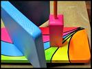 Pindakaas pot houder Model_1, Regenboog kleuren, Regenboog-Collectie