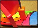 Pindakaas pot houder Model_4, Regenboog kleuren, Regenboog-Collectie