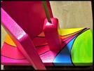 Pindakaas pot houder Model_2, Regenboog kleuren, Regenboog-Collectie