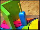Pindakaas pot houder Model_6, Regenboog kleuren, Regenboog-Collectie