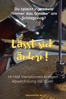 Schlagzeugnoten Hi-Hat Anfänger