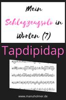 Schlagzeug lernen Solo Noten PDF