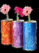 Mit Farben auf Glas, Kunststoff und Holz malen