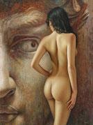 """La mirada del coloso"". Omar Ortiz est un peintre méxicain hyperréaliste."