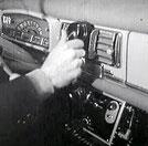 Tableau de bord radio-taxi 403 Peugeot