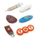antistress, portachiavi, accessori per smartphone e PC, magneti, termometri