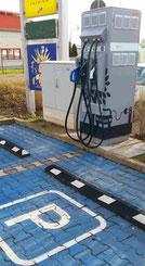 Zukunft Zile Elektromobilität DC Schnell - Ladenetz an den Autobahnen Beispiel an der A9 Foto Solarstrom-Simon