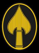 Insigne de l'OSS, repris depuis par le United States Special Operations Command.