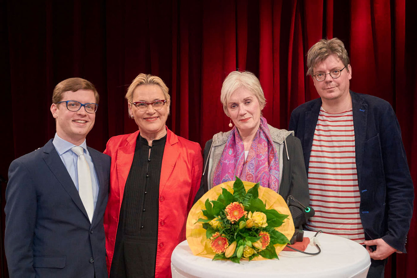 "Nr. 2: v.l.n.r. Tilman Lucke, Gerlinde Kempendorff, Charlotte zu Kappenstein, Andreas ""Spider"" Krenzke"