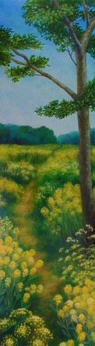 「祝福の小道」 油彩 376×106mm