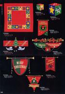 クリスマス飾りのハンガー、ペナント、タイトル、ガーランド、ドロップ