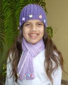 Cómo tejer un gorro y una bufanda en punto elástico para niños