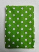 Nr.29 Punkte grün Baumwolle
