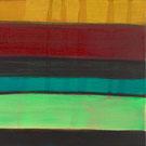 Monika Humm abstrakte Oelmalerei, Landschaftliche Strukturen in Herbstfarben