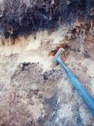Lente di sabbie grigie sciolte scavo presso Scuole di Lureana di Borrelllo (RC)