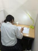 個室型の自習室です。
