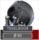 tegelboor voor gebruik op een haakse slijper met een toerental van 11000 rpm