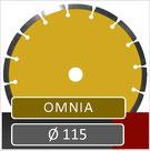 slijpschijf omnia diameter 115 universeel voor haakse slijper