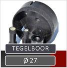 de prodito tegelboor met een boor diameter van 27 mm is zeer geschikt voor renovatiewerken in natte ruimtes