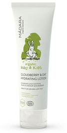 Review MÁDARA ORGANIC BABY & KIDS - CLOUDBERRY & OAT HYDRATING LOTION