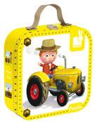 Valise 4 Puzzles Le tracteur de Peter 6, 9, 12 et 16 pièces