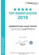 Eisenhuth Rohr-Kanal-Technik Proven Expert Top-Dienstleister 2019