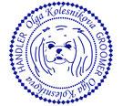 Olga Kolesnikova; handler; grumer; groomer; agent; Kiev Ukraine; maltese; logo; PRS LA BEAUTY;