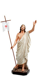 Jesus resurrection statue cm. 40