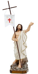 Jesus resurrection statue cm. 35