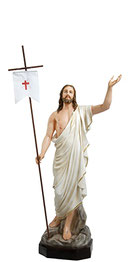 Jesus resurrection statue cm. 50