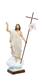 Jesus resurrection statue cm. 65