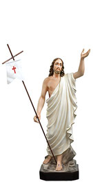 Jesus resurrection statue cm. 85
