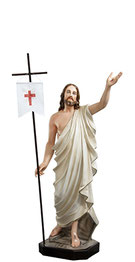 Jesus resurrection statue cm. 110