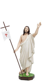 Jesus resurrection statue cm. 50