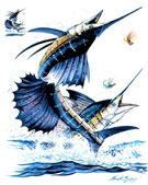 Tee-shirt pêche au large de la méditerranné