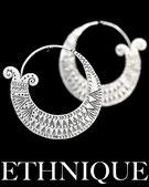 Boucles d'oreilles argent ethniques itsara