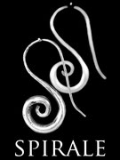 Boucles d'oreilles argent spirales itsara