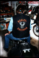 Harley Weste mit Motor