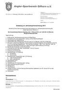 Tagesordnung JHV 2014