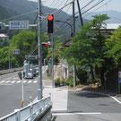 軍畑駅入口信号