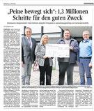 Presseartikel Preisverleihung Peine bewegt Generationenhilfe Abbensen Jung und Alt Peine Abbensen